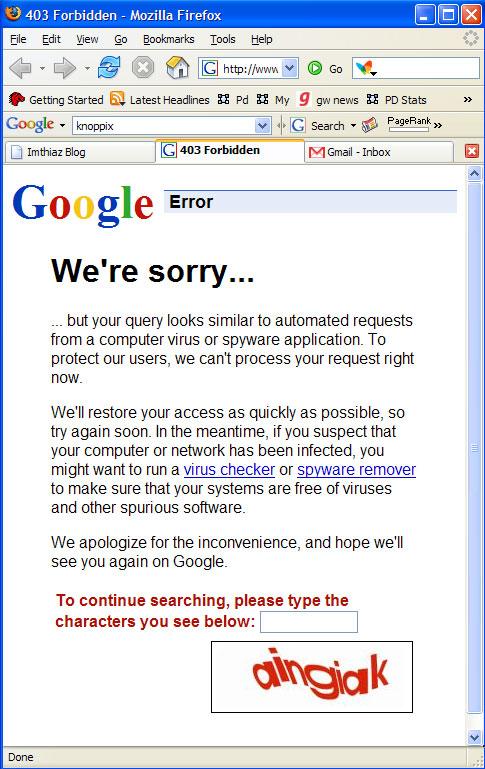 DOS Google