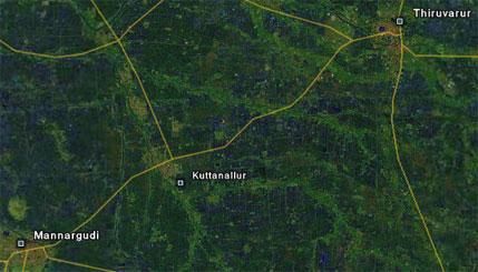 Koothanallur - Courtesy Google Maps