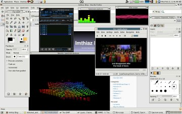 Screenshot of Fedora Core 4 On Hp Pavilion zd8000