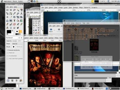 Fedora core 6 screenshot