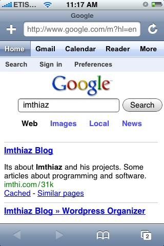 Google's new iphone interface