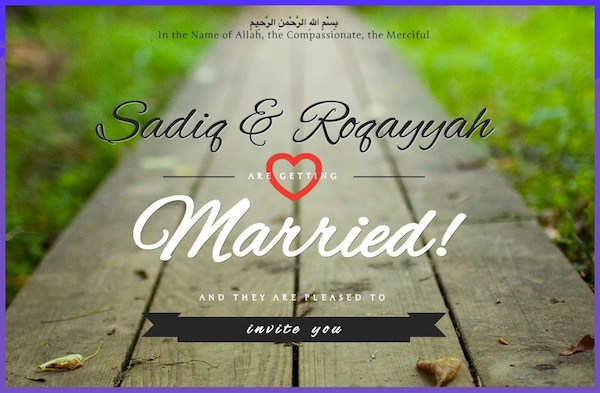 Sadiq And Roqqayah Wedding Invitation